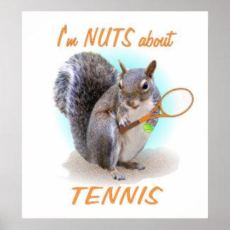 Nuez del tenis póster