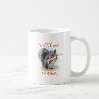 Nuez del tenis taza básica blanca