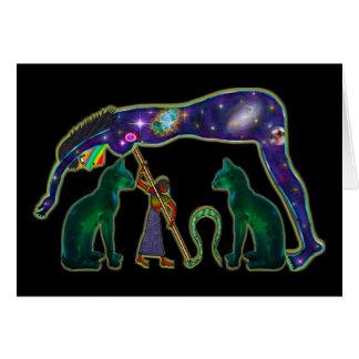 Nuez, diosa cósmica del cielo felicitación