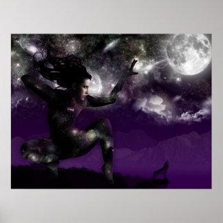 Nuez - diosa de la noche póster