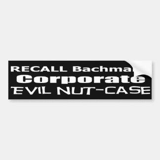 Nuez-Funda malvado corporativo de Micaela Bachmann Pegatina Para Auto