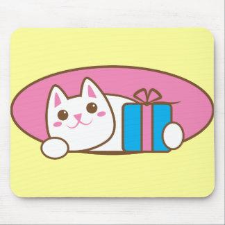 Nuez maliciosa del presente de cumpleaños tapetes de raton