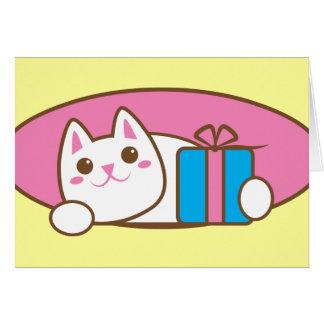 Nuez maliciosa del presente de cumpleaños tarjeta de felicitación