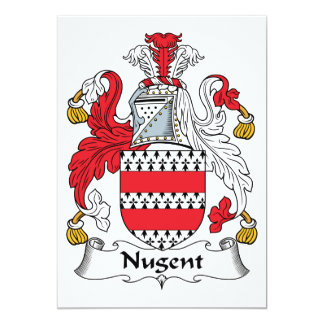 Nugent Family Crest 5x7 Paper Invitation Card