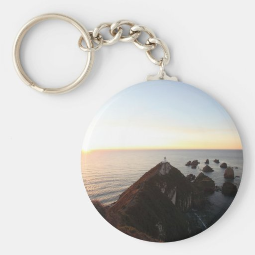Nugget Point lighthouse Key Chain