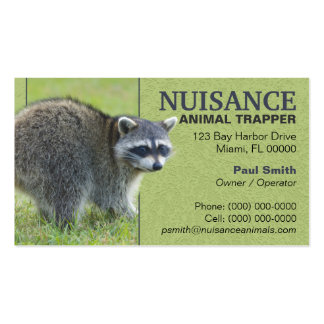 Nuisance Animal Trapper Business Cards