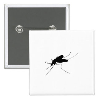 Nuisance Mosquito insect/bug pest Silhouette Pinback Button