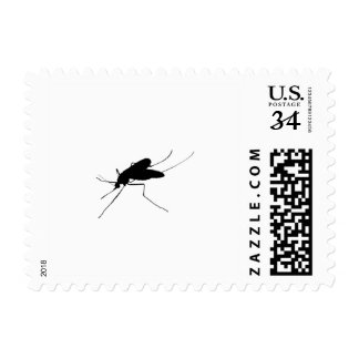 Nuisance Mosquito insect/bug pest Silhouette Stamp