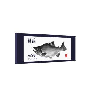 Nukahira lake! himemasu! 100 year retention canvas stretched canvas prints