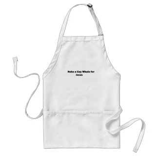 Nuke a Gay Whale for Jesus Adult Apron