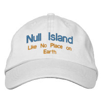 Null Island Embroidered Baseball Cap