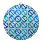 Null Sets (Blues and Greens) Dart Board