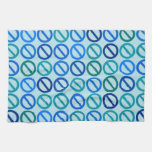 Null Sets (Blues and Greens) Kitchen Towel