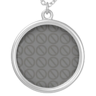 Null Sets (Greys) Sterling Silver Necklace