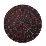 Null Sets (Reds on Black) Dart Board