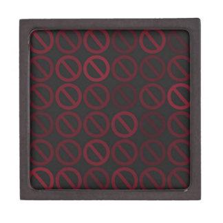 Null Sets (Reds on Black) Gift Box Premium Keepsake Boxes