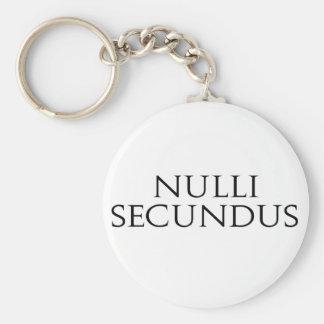 Nulli Secundus Llavero Redondo Tipo Pin