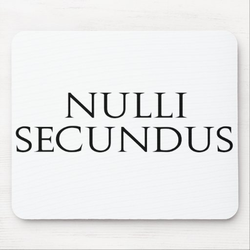 Nulli Secundus Mouse Pad