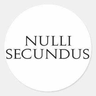 Nulli Secundus Pegatina Redonda