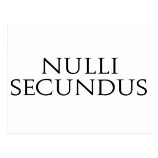 Nulli Secundus Postcard