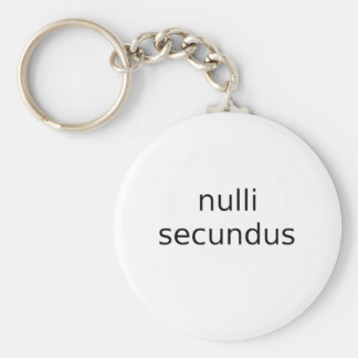 nulli secundus second to none keychain