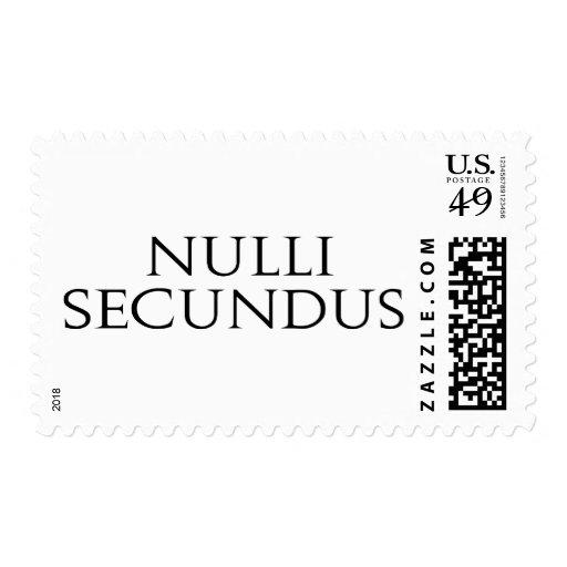 Nulli Secundus Stamp
