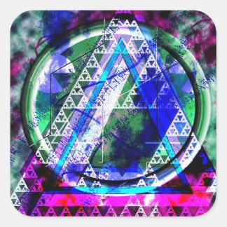 Nullified Triangles #3 Square Sticker