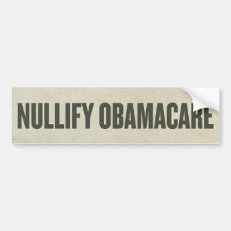 Nullify Obamacare Bumper Sticker