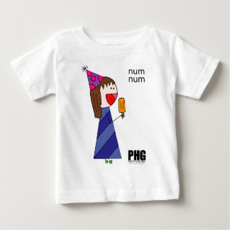 Num Num PartyHatGirl enjoying a popsicle Baby T-Shirt