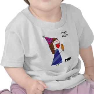 Num Num PartyHatGirl enjoying a popsicle T-shirt