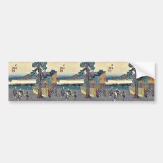 Numazu by Ando, Hiroshige Ukiyoe Bumper Stickers