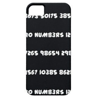 NUMB3RS - BLACK AND WHITE iPhone SE/5/5s CASE