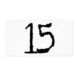 Number15 Etiqueta De Envío