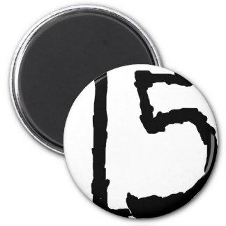 Number15 Imán Redondo 5 Cm