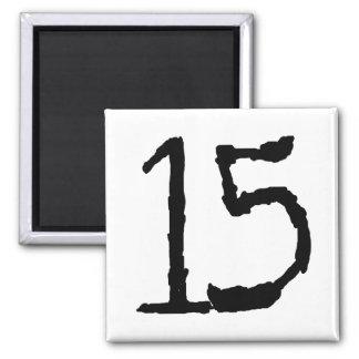 Number15 Imán Cuadrado