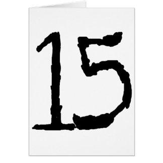Number15 Tarjeta De Felicitación
