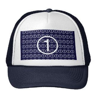 Number1 Black Jack Trucker Hat