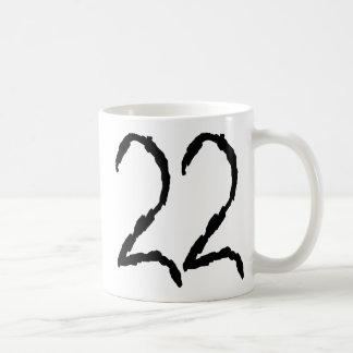Number22 Taza Básica Blanca