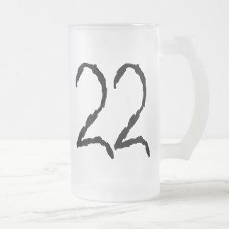 Number22 Taza Cristal Mate
