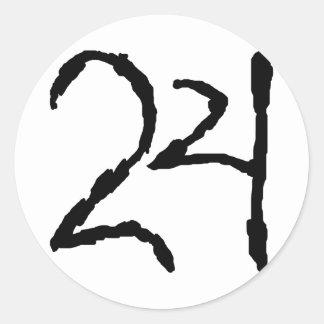 Number24 Pegatina