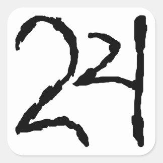 Number24 Calcomanias Cuadradas