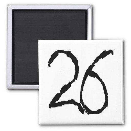 Number26 Fridge Magnets