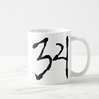 Number34 Taza Básica Blanca