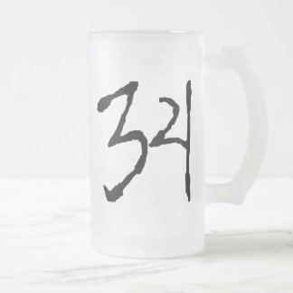 Number34 Taza Cristal Mate