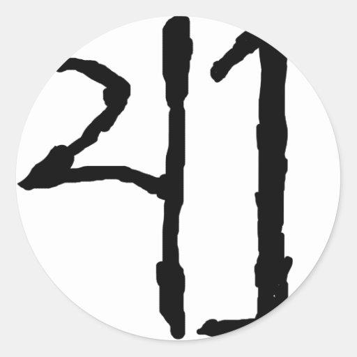 Number41 Etiquetas Redondas