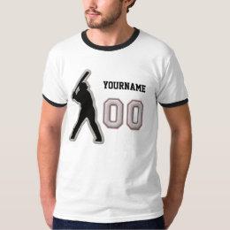 Number 00 Hitter Uniform - Cool Baseball Stitches T-Shirt