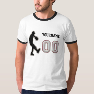 Number 00 Pitcher Uniform - Cool Baseball Stitches Tee Shirt