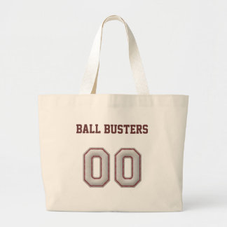 Number 00  with Cool Baseball Stitches Look Large Tote Bag