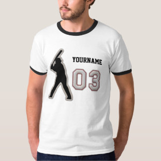 Number 03 Hitter Uniform - Cool Baseball Stitches T-Shirt