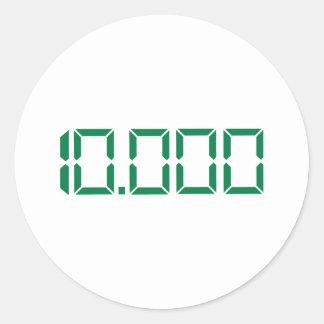 Number – 10000 sticker